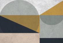 carte da parti con tema geometrico