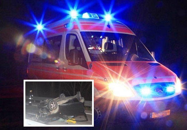 Ascoli Piceno, frontale sull'Ascoli Mare: una ragazza guida contromano, tre persone gravi