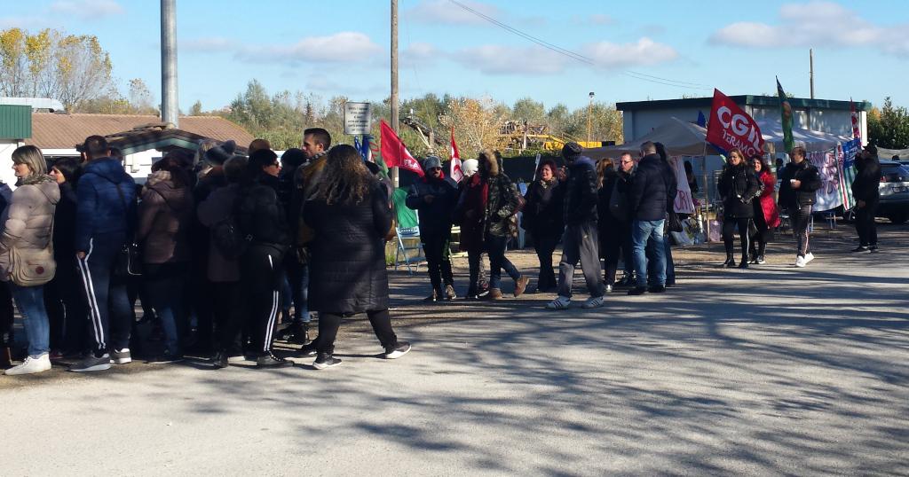 sciopero dei lavoratori Avi Coop