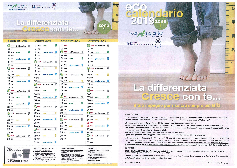 Calendario Raccolta Differenziata Teramo.Monteprandone Eco Calendario 2019 Il Martino Ilmartino