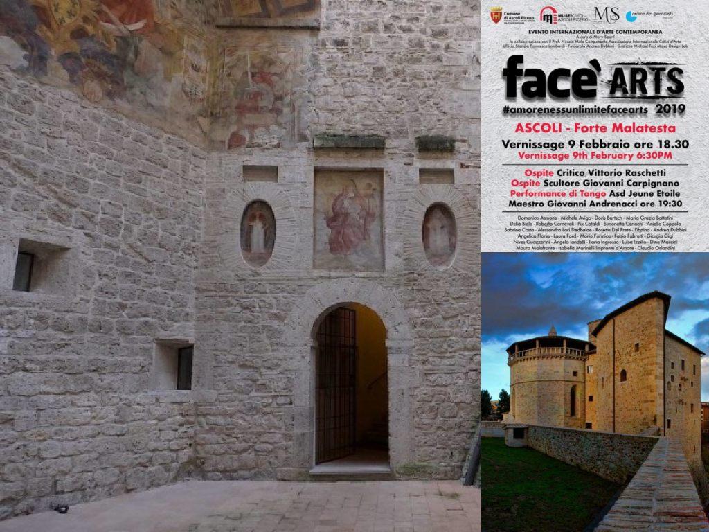 Immagine: Ascoli Piceno, mostra 'Face Arts', Forte Malatesta (Il Martino - ilmartino.it -) M'Art - Arte e Cultura -