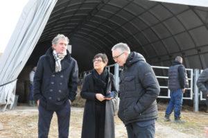 Foto: Casini e Ceriscioli all'interno della struttura Ama Aquilone (Il Martino - ilmartino.it -)