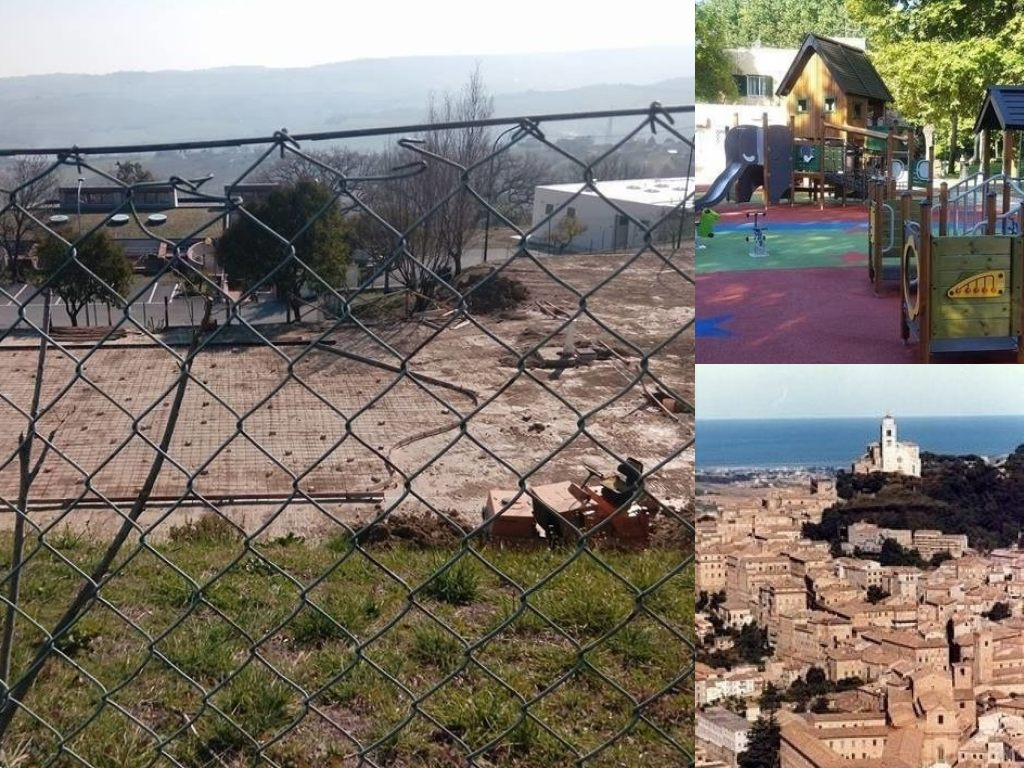 Fermo, un'area giochi per bambini a Sant'Andrea e a Santa Caterina (Il Martino - ilmartino.it -)