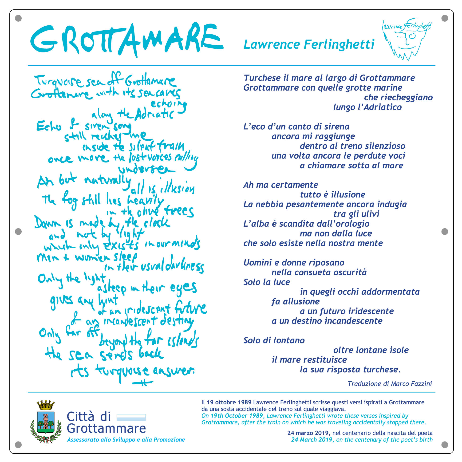 Grottammare, Lawrence Ferlinghetti (Il Martino - ilmartino.it -) M'Art - Arte e Cultura -