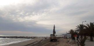 (archivio) Villa Rosa erosione lavori spiaggia