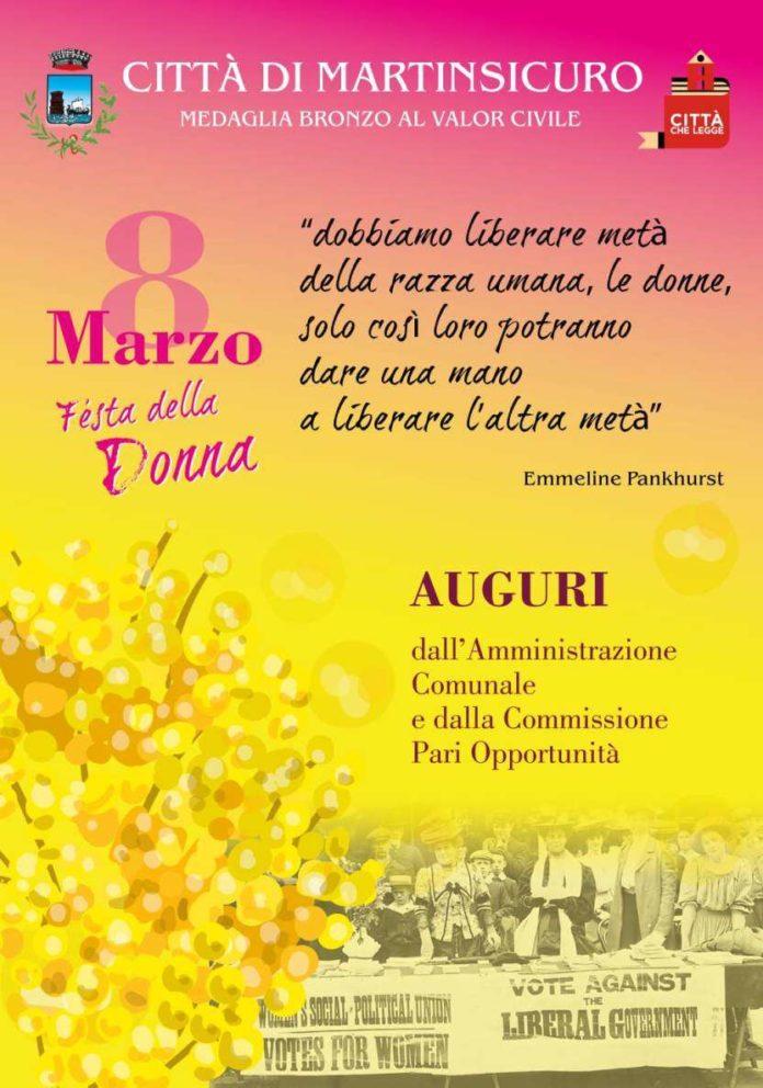 locandina 8 marzo Giornata Internazionale della Donna