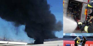 Incendio a Castel di Lama. L'azienda Finproject prende fuoco: in azione i vigili di fuoco (Ilmartino.it - ilmartino.it -)