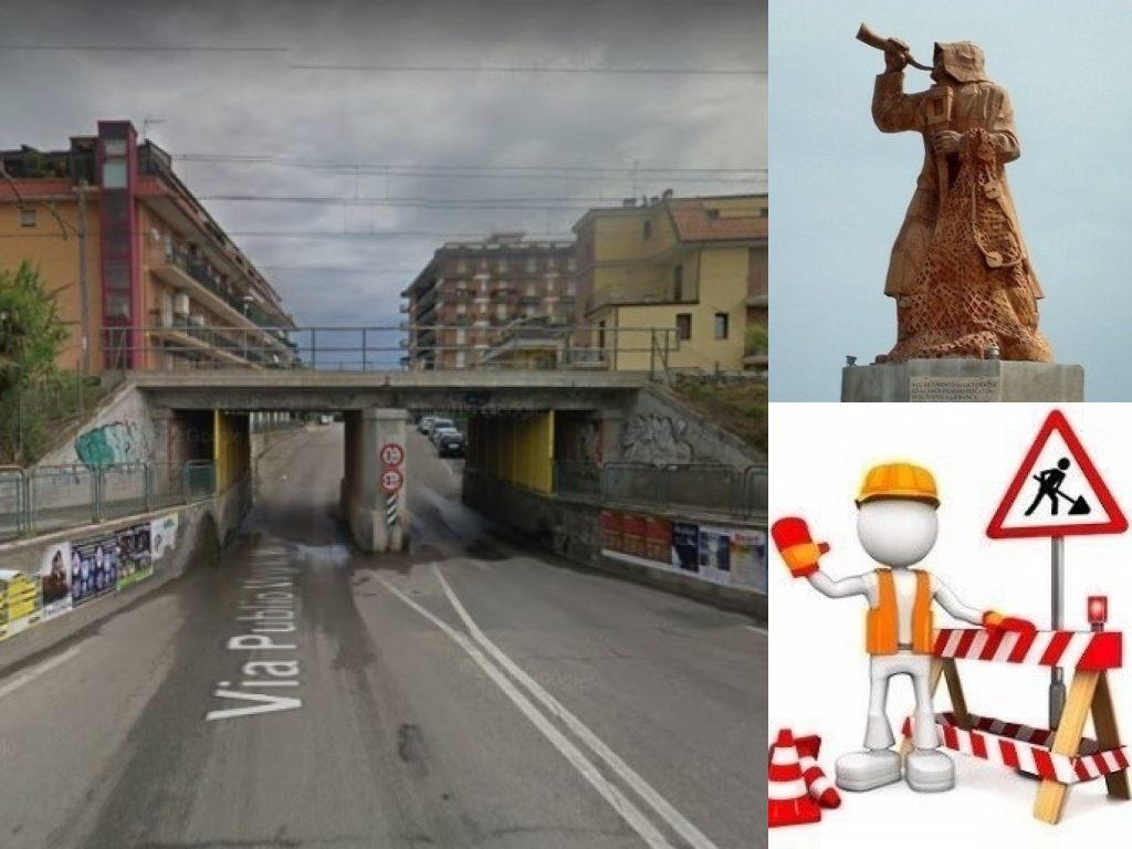 San Benedetto del Tronto, sottopasso di via Virgilio. Lavori in corso - particolare 'il pescatore'- (Il Martino - ilmartino.it -)