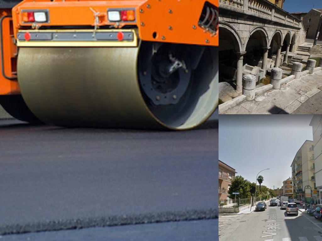 Ascoli Piceno, Via Marcello Federici. lavori di asfaltatura. Fonte di Sant'Emidio (Il Martino -ilmartino.it -)