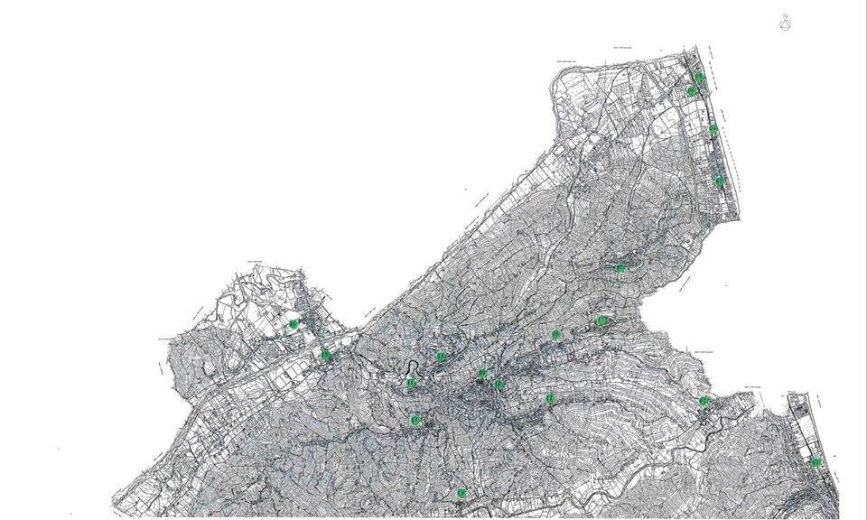 Fermo - mappa, colonnine di ricarica di auto elettriche (Il Martino - ilmartino.it -)