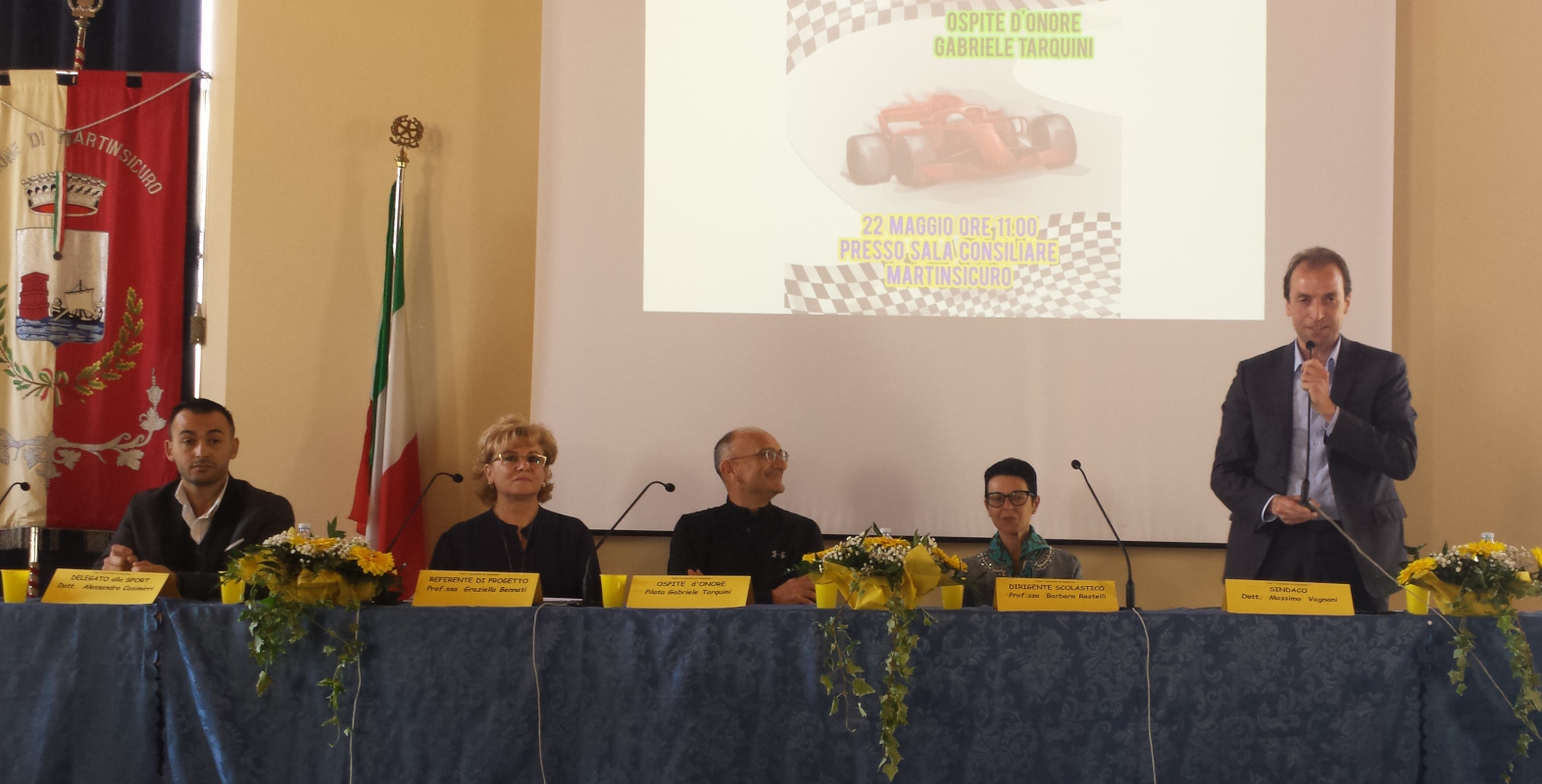 Gabriele Tarquini incontro Sala Consiliare Martinsicuro
