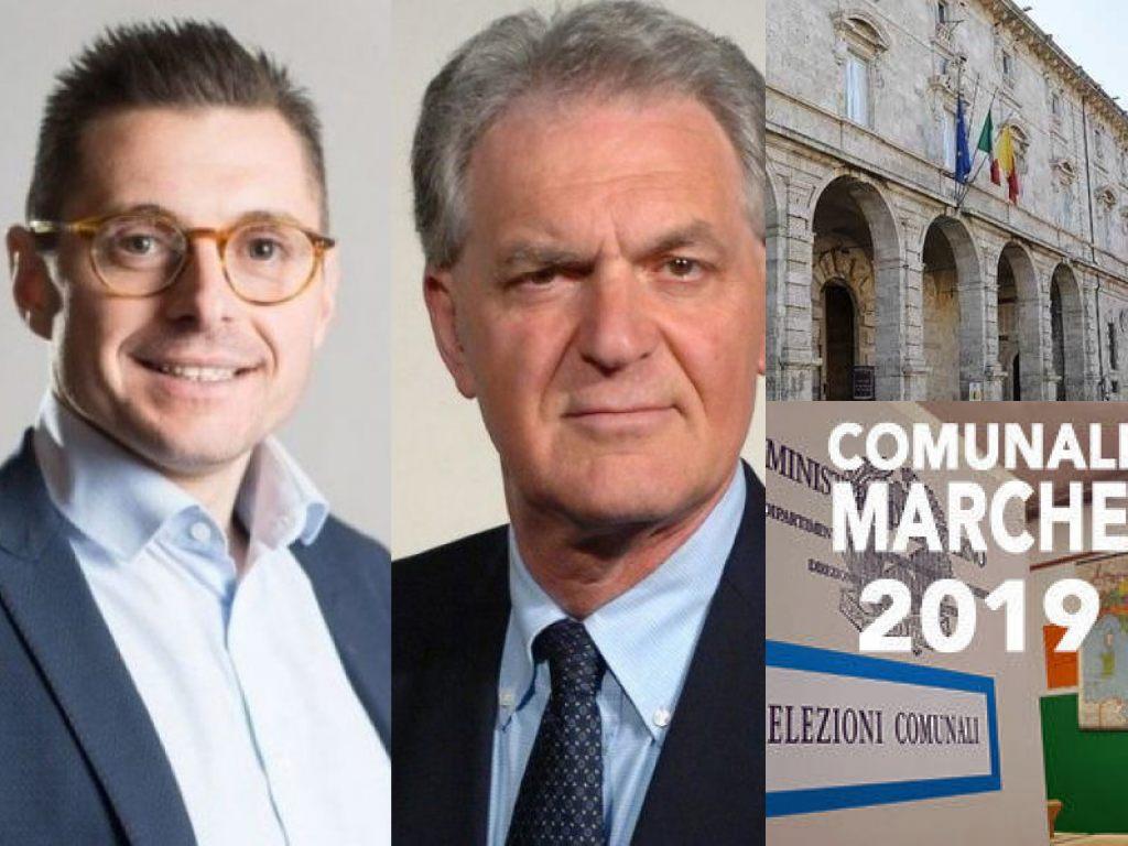 Marco Fioravanti e Piero Celani, Arengo. Elezioni comunali Marche (Il Martino - ilmartino.it -)