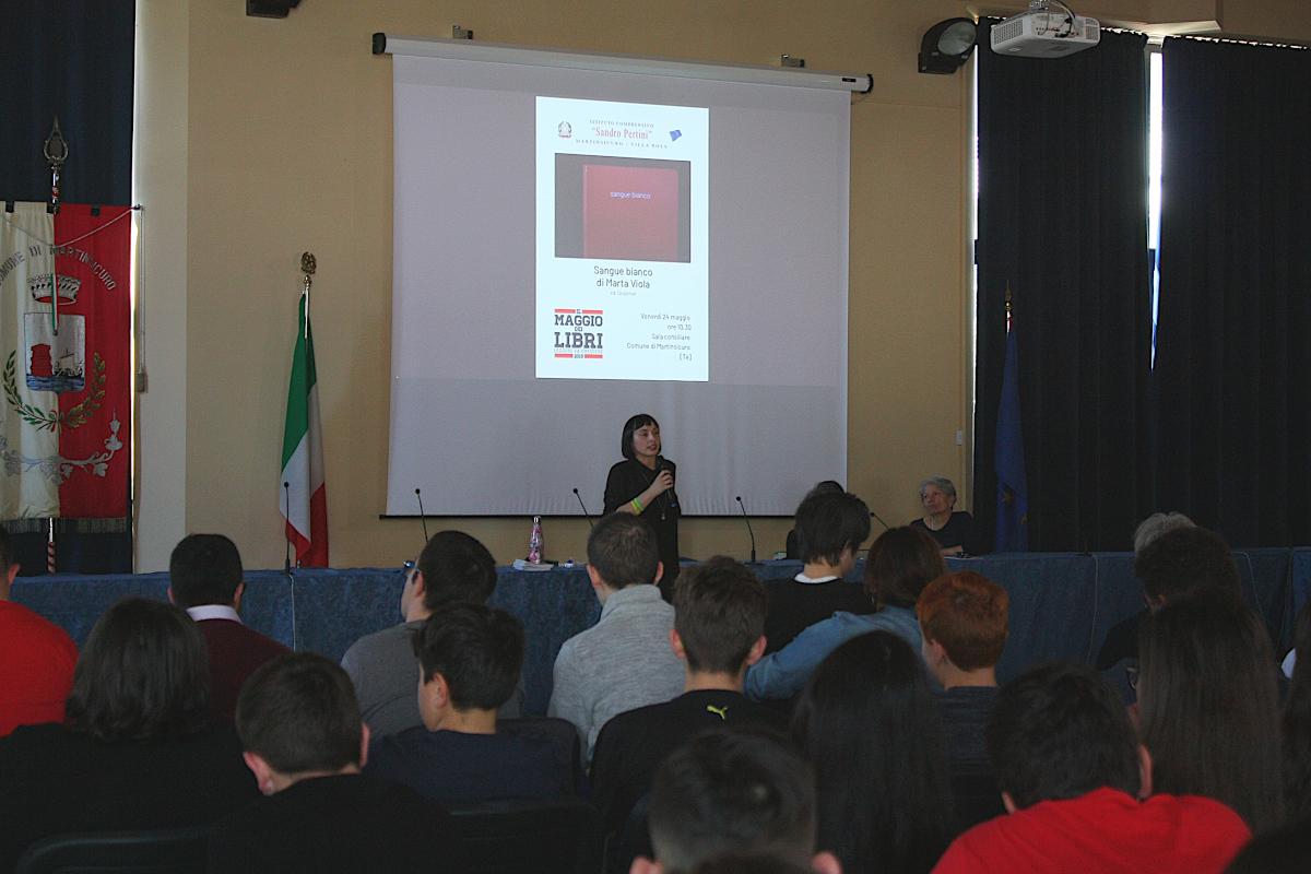 Marta Viola presentazione libro Sangue Bianco