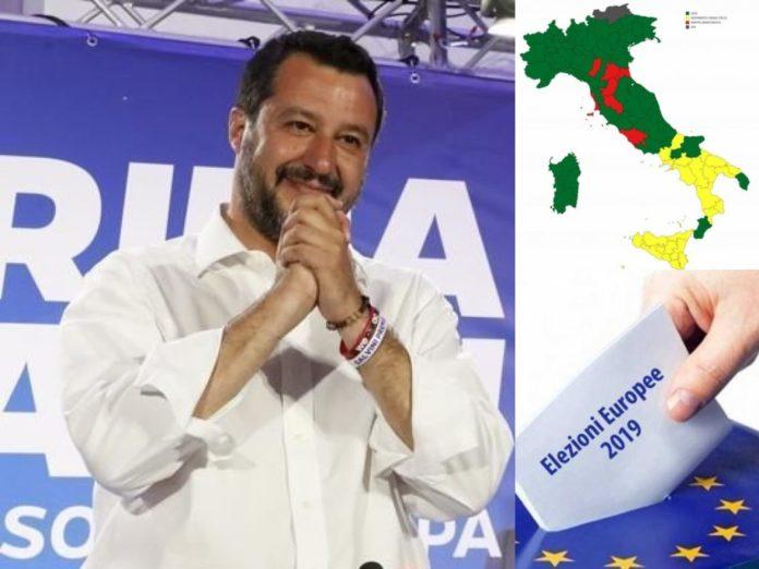 Salvini, Lega. Elezioni Europee 2019 (Il Martino - ilmartino.it -)