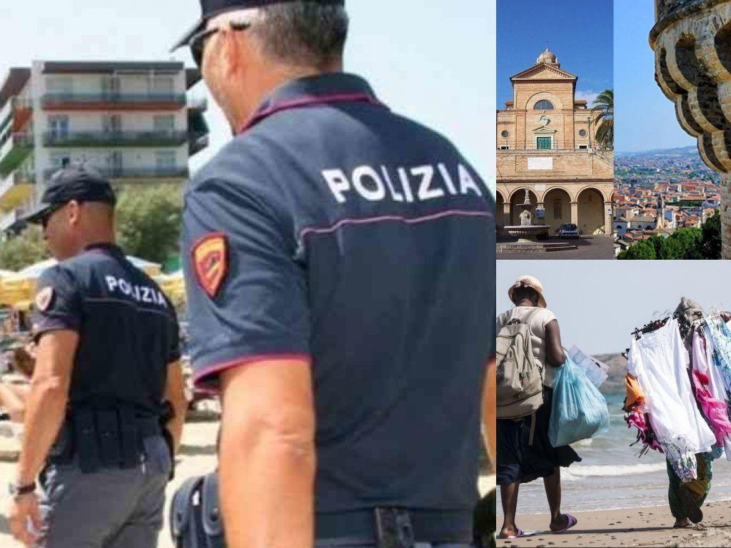 'Sicurezza Spiagge', ambulanti. Particolare di Grottammare e Cupra Marittima (Il Martino - ilmartino.it -)