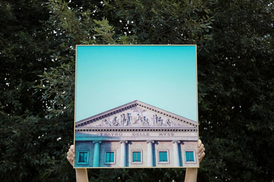 Teatro delle Muse, Ancona. Foto e quadro di Benedetto Cipriano (Il Martino - ilmartino.it -) M'Art - Arte e Cultura -