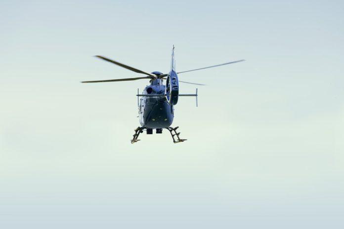 licottero polizia assalto al portavalori