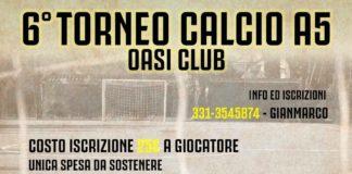 locandina VI torneo Calcio A5 Oasi Club Villa Rosa