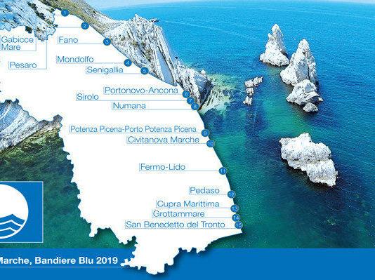 Bandiera Blu Marche 2019 (Il Martino - ilmartino.it -)