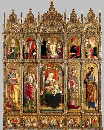 Carlo Crivelli, 'Polittico di Sant'Emidio'. Conservato nella Cattedrale di Sant'Emidio ad Ascoli Piceno (Il Martino - ilmartino -) M'Art - Arte e Cultura -