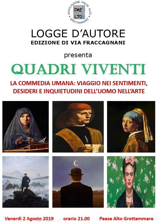 Grottammare, Locandina Quadri Viventi (Il Martino - ilmartino.it -)