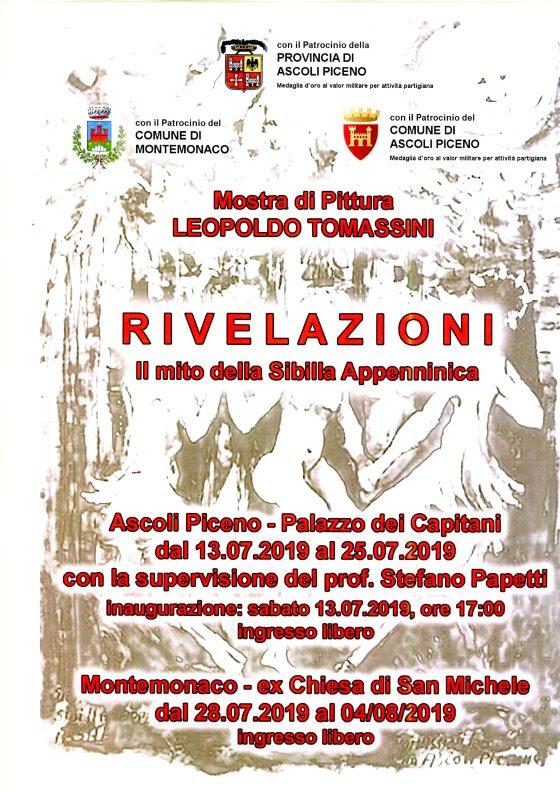 Manifesto, 'Rivelazioni - Il mito della Sibilla Appenninica'; mostra di pittura di Leopoldo Tomassini (Il Martino - ilmartino.it -) M'Art - Arte e Cultura -
