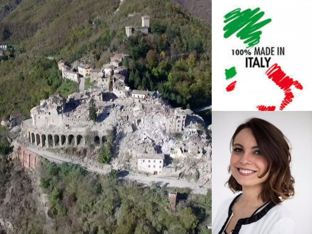 Regione Marche, Arquata del Tronto. Manuela Bora, Made in Italy (Il Martino - ilmartino.it -)