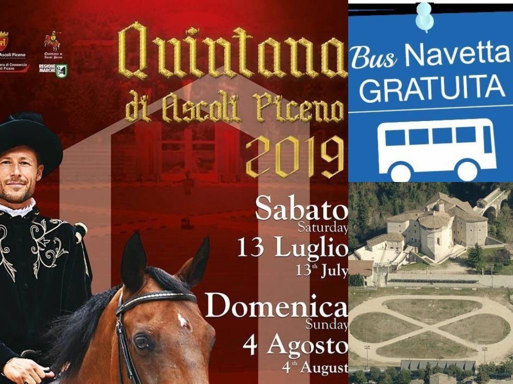 Ascoli Piceno, Quintana 2019, bus navetta gratuito (Il Martino - ilmartino.it -)