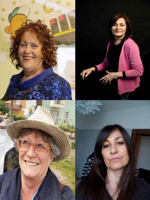 Grottammare mostra. Maria Cesarina Borraccini, Lina Lanciotti, Matilde Menicozzi e Maria Luisa Panella (Il Martino - ilmartino.it -)