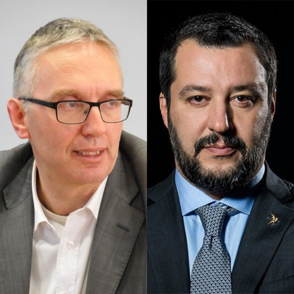 Luca Ceriscioli e Matteo Salvini (Il Martino - ilmartino.it -)