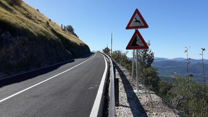 Strada Provinciale 477/1, riapertura dopo il sisma (Il Martino - ilmartino.it -) Foto: Ansa