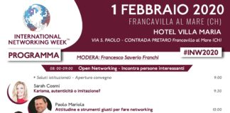 Locandina I International Networking Week BNI Francavilla 01.02.2020