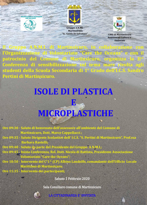 locandina isole di plastica