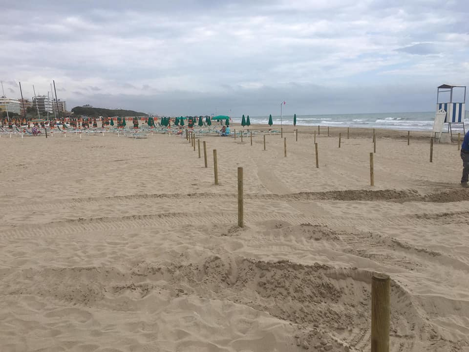 lavori spiaggia libera alba