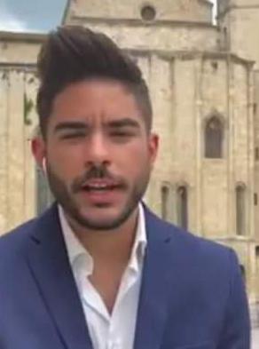 Davide Ciampini durante un intervento elettorale